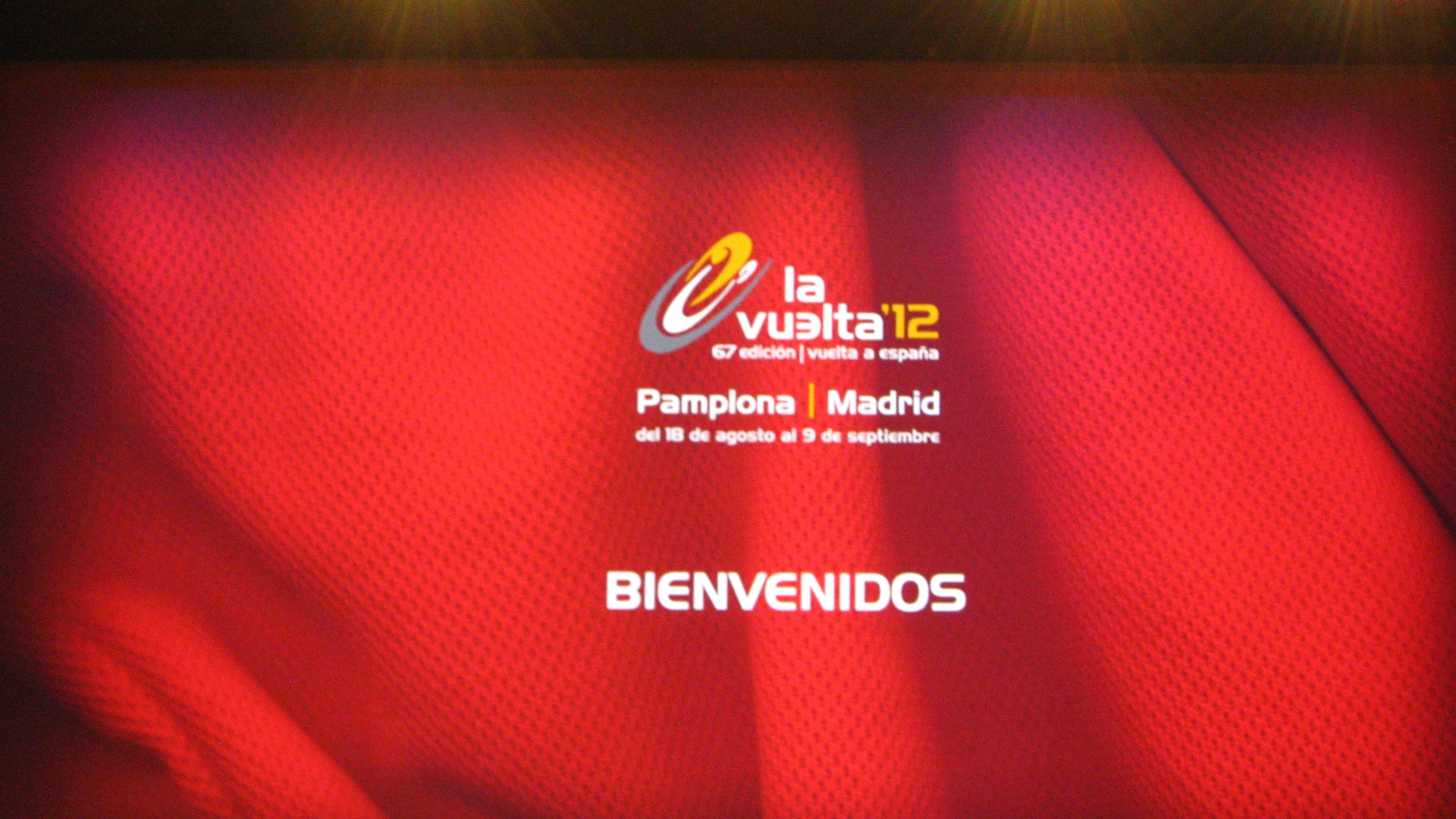 El Club asistió en Pamplona a la presentación de La Vuelta 2012