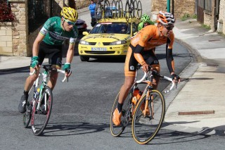 Mikel Landa, segundo en la pasada edición, se metió en la fuga buena de la jornada pero sus fuerzas no le acompañaron para seguir a Spilak. Foto: Equipo Euskaltel-Euskadi.