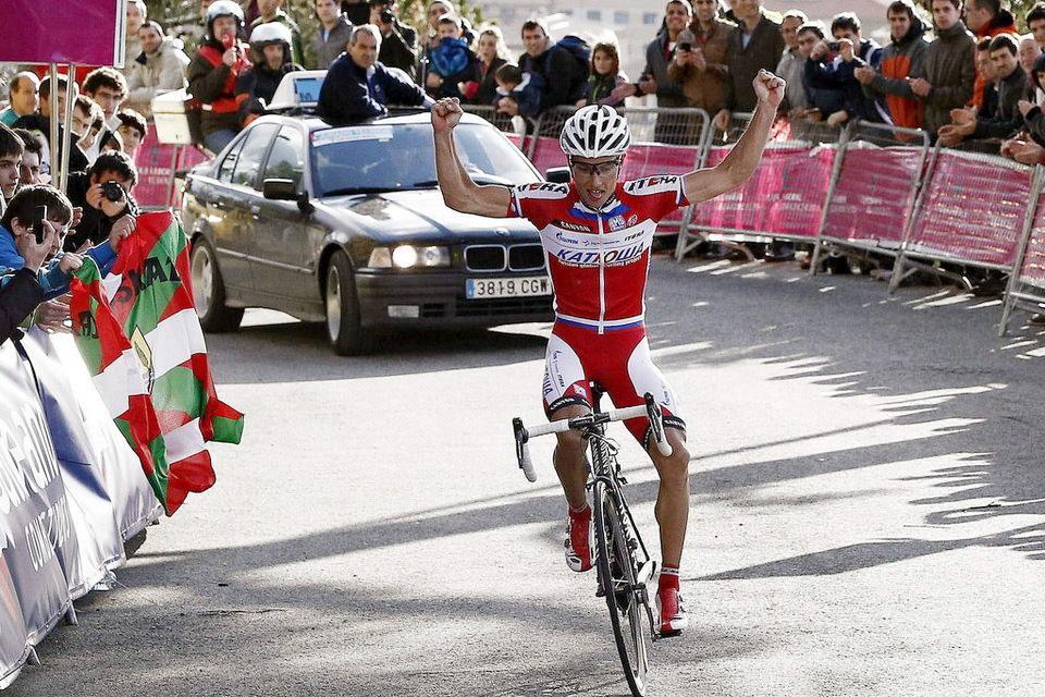 El esloveno Simon Spilak (Katusha) sorprende a todos en el Gran Premio Miguel Induráin