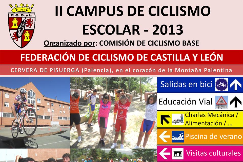 El Campus de Ciclismo Escolar regresará a Cervera durante la segunda quincena del mes de julio