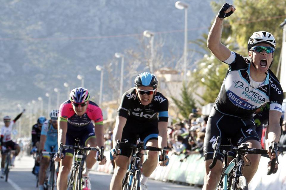 El belga Meersman (OPQS) impone su velocidad en el Trofeo Alcudia por delante de Ventoso
