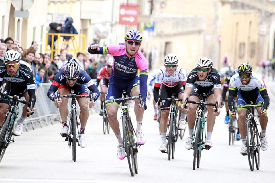 Sacha Modolo (Lampre) gana el Trofeo Ses Salines. Vicente Reynès, primer líder de la Copa España