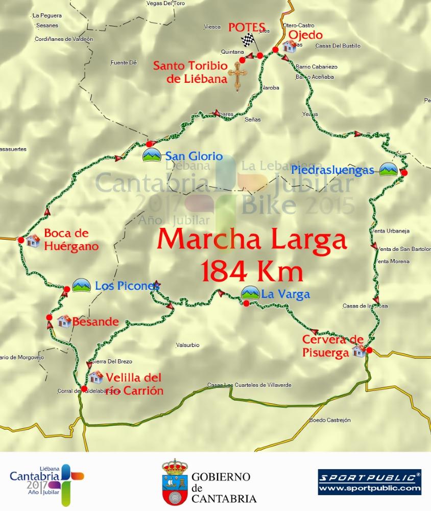 Planimetría de la marcha larga de la Lebaniega Jubilar Bike.